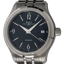Ball Trainmaster Acero 39mm Negro