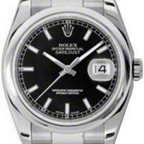 Rolex Datejust 36 116200-BLKSDO Black Index Stainless Steel...