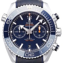Omega Seamaster Planet Ocean Chronograph Steel 45,5mm Blue No numerals