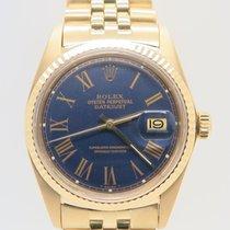 Rolex Datejust 18k Yellow Gold Blue Dial Ref. 1601 (Rolex Box)