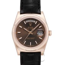 Rolex Day-Date 36 Rose gold 36.00mm Brown