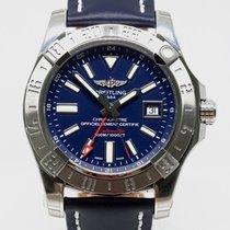 Breitling Avenger II GMT Steel 43mm Blue No numerals