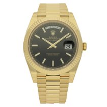 Rolex Day-Date 40 Oro amarillo 40mm Negro Sin cifras