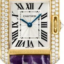 Cartier Gelbgold Quarz Silber neu Tank Anglaise
