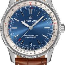 Breitling Navitimer Stal 38mm Niebieski
