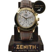 Zenith El Primero Chronograph Gelbgold 40mm Weiß Keine Ziffern Schweiz, Geneve