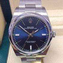 Rolex Oyster Perpetual 39 Acél 39mm Kék Számjegyek nélkül