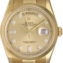 Rolex President Day-Date Champagne Diamond Dial Men's...