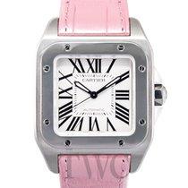 까르띠에 (Cartier) Santos 100 Steel/Pink Leather - W20126X8