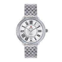 Michele Serein Mid Stainless Steel Ladies Watch Diamond MOP...