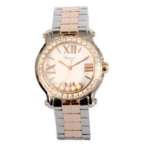Chopard Happy Sport II 8509 Rose Gold & Stainless Steel Diamond