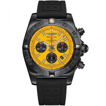 Breitling Chronomat 44 Blacksteel Steel 44mm Yellow