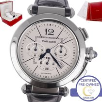 Cartier Pasha Steel 42mm Silver Arabic numerals United States of America, New York, Smithtown
