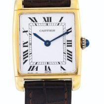 Cartier Yellow Gold Reversible Wristwatch Circa 2000