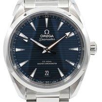 Omega Seamaster Aqua Terra Acier 38mm Bleu Sans chiffres