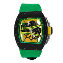 理查德•米勒 Yohan Blake Limited Edition  TZP Black Ceramic Watch...