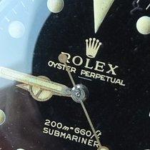 Rolex Stahl Automatik Schwarz Keine Ziffern 40mm gebraucht Submariner