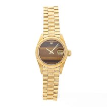 Rolex Oyster Perpetual Lady Date Yellow gold 26mm Gold No numerals