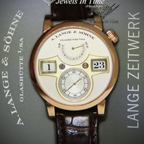 A. Lange & Söhne Rose gold Manual winding Silver 41.9mm pre-owned Zeitwerk