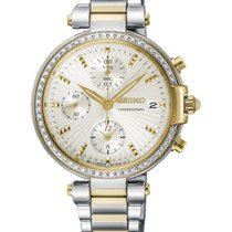 Seiko new Chronograph 36mm Gold/Steel Mineral Glass