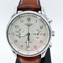 Longines Avigation pre-owned 40mm White Chronograph Date Leather
