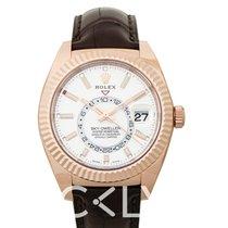 Rolex Sky-Dweller Or rose 42mm Blanc