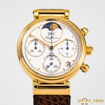 IWC Da Vinci Chronograph Yellow gold 29mm White No numerals