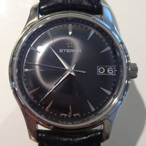 Eterna Vaughan Steel 42mm Black No numerals