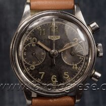 "Heuer Vintage-1930`s ""high-pressure"" Steel Chronograph..."