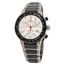 Salvatore Ferragamo F-80 Chrono Mens Titanium Watch F54MCQ7890...
