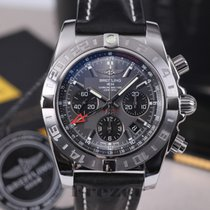 Breitling Chronomat 44 GMT Chronograph Steel Grey Dial