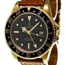 Rolex Vintage GMT-Master Ref-16758 Nipple Dial 18k Yellow Gold...