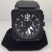 Bell & Ross Aviation Black Dial Pvd Automatic Chrongraph Mens...