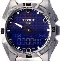 Tissot T-Touch Expert Solar Titan 45mm Blau Keine Ziffern