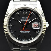 Rolex Datejust Turn-O-Graph Steel 36mm Black No numerals