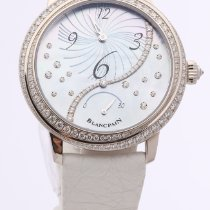 Blancpain Women pre-owned 37mm Leather