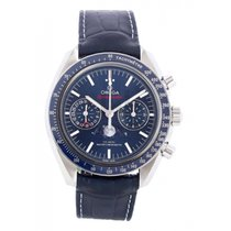 Omega Speedmaster Professional Moonwatch Moonphase Acier 44.2mm Bleu