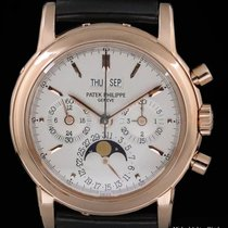 Patek Philippe Perpetual Calendar Chronograph Rose gold 36mm Silver United States of America, New York, New York