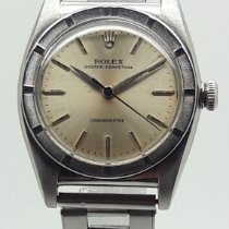 Rolex Bubble Back Staal 32mm Champagne Geen cijfers