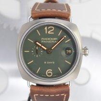 Panerai Radiomir 8 Days Titanium 45mm Groen Arabisch