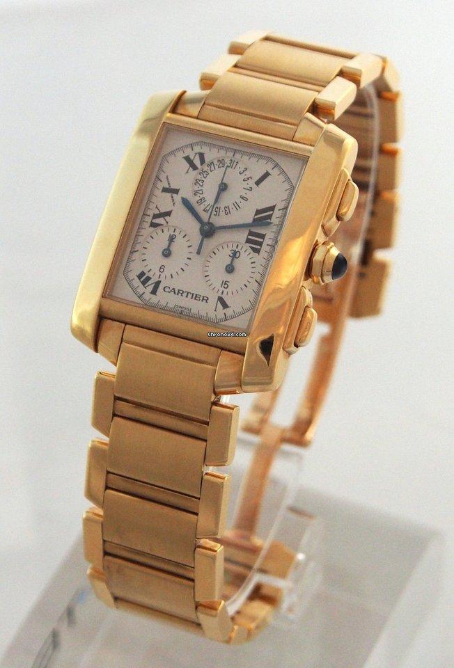 d94bf19de77f Cartier --- Tank Francaise Chronograph 18k Yellow Gold... for ...