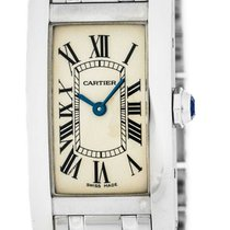Cartier Tank Américaine new Quartz Watch with original box and original papers W26019L1
