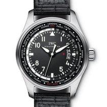 IWC Pilot Worldtimer Steel 46.5mm Black Arabic numerals