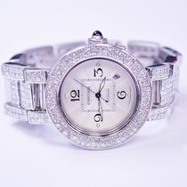 Cartier Pasha 42mm Stainless Steel Watch With Custom Diamonds...