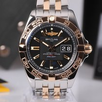 Breitling Galactic 41 Black Dial Steel & Gold