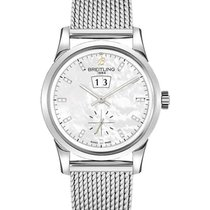 Breitling A1631012/A765-ocean-classic-steel Transocean 38mm in...