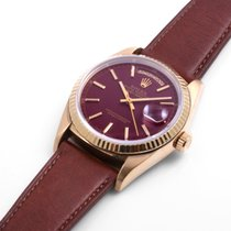 勞力士 (Rolex) 18K Yellow Gold Day-Date Custom Ox Blood Dial 36mm...