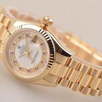 劳力士  (Rolex) Lady-Datejust 26MM 18K Yellow Gold President...