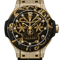 Hublot 343.VX.6580.NR.0804 Yellow gold 2020 Big Bang Broderie 41mm new