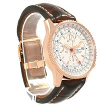 Breitling Navitimer World Rose gold 46mm Silver United States of America, Georgia, Atlanta